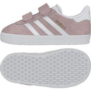 Adidas Gazelle Cf Originals Rose/blanc 26 Enfant