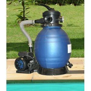 Filtration piscine : Filtre à sable + pompe 4 m3/h sans préfiltre