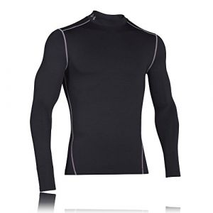 Under Armour by JBL Under Armour UA CG Armour Mock Chemise à Manches Longues Homme Black FR : M (Taille Fabricant : MD)