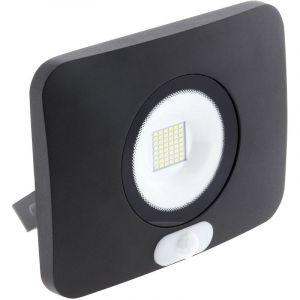Elexity Projecteur LED étanche 50W avec détecteur noir