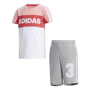 Adidas Survêtements Little Kid Summer Set - Glory Pink / Medium Grey Heather - Taille 98 cm