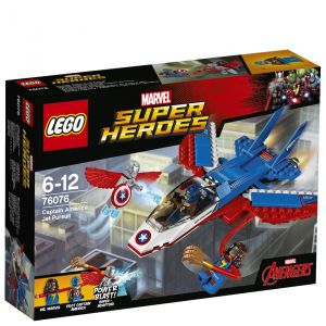 Lego 76076 - Marvel Super Heroes : La poursuite en avion de Captain America