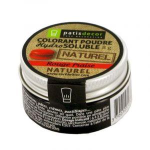 Patisdécor Colorant poudre naturel rouge fraise 8 g