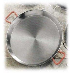 Garcima Poêle à paella acier poli 32 cm