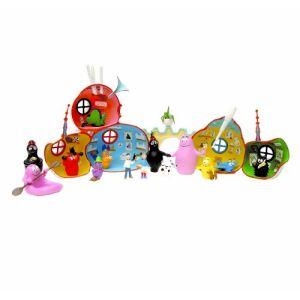 Plastoy Maison et 2 personnages Barbapapa