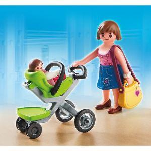 Playmobil 5491 City Life - Maman et bébé avec poussette