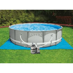 Intex 28226fr piscine hors sol tubulaire ronde metal for Piscine 2m44