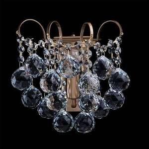 MW-Light Applique exceptionnelle de style baroque et magnifique avec armature en métal couleur bronze et plafonnier en cristal, pour salon cuisine ou chambre 1 ampoule non incl. 1 x 60W E14 230V