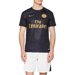 Nike PSG M NK Dry SQD Top SS GX 2 T-Shirt Homme, Noir Black/Truly Gold 011, FR