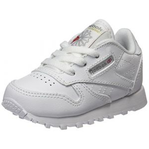 Reebok Classic Leather, Baskets Garçon, Blanc (White-1), 21.5 EU
