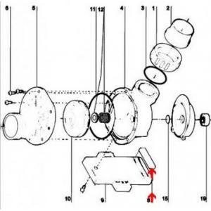 Procopi 595106 - Compensateur de pied de support de pompe Tiper 2
