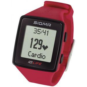 Sigma Sport ID.Life - Cardiofréquencemètre rouge bracelet d'activité