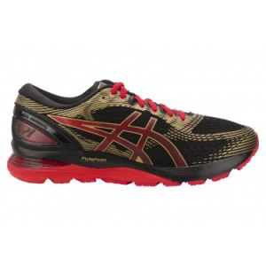 Asics Gel-Nimbus 21 1011a257-001, Chaussures de Running Compétition Homme, Multicolore (Black/Classic Red 001), 46 EU