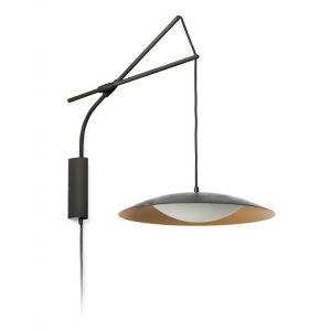 Faro Applique LED Slim avec prise, noir-doré