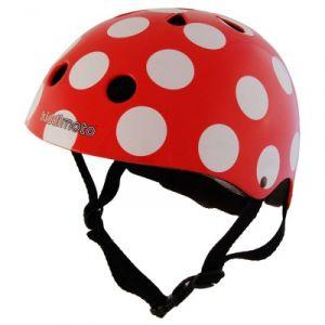 Kiddimoto Casque de vélo Red Dotty