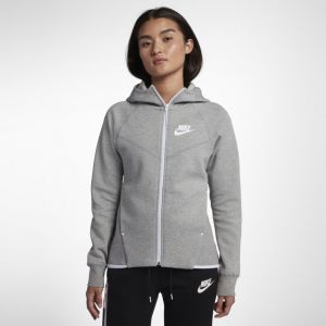 Nike Sweat à capuche entièrement zippé Sportswear Tech Fleece Windrunner pour Femme - Gris - Taille XS