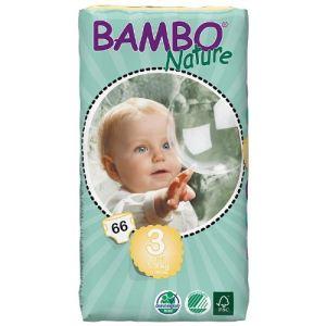 Bambo Nature Couches écologiques taille 3 Midi 5-9 kg - paquet de 66