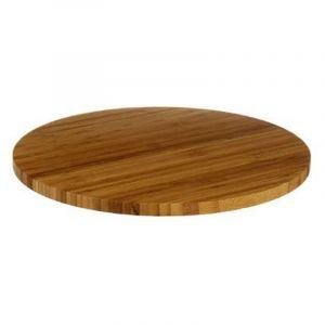 Plateau tournant de présentation ou rangement en bambou diamètre 35 cm