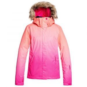 Roxy Jet Veste de Ski/Snowboard pour Femme, Beetroot Pink Prado Gradient, FR : M (Taille Fabricant : M)