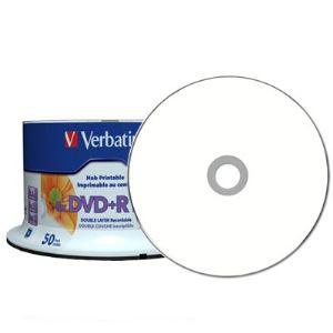 Verbatim 97693 - DVD+R DL Life Series 8.5 Go 8x (spindle de 50) imprimable