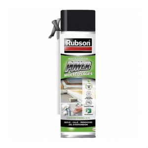 Rubson Power Mousse expansive blanche aérosol pistolable 500 ml