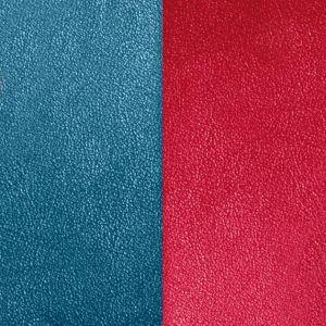Les Georgettes Cuir Boucles D'Oreilles - Vinyle Bleu Framboise Femme