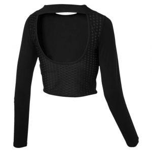 Puma T-shirts -select Luxe Crop Black - M