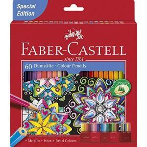 Faber-Castell Lot de 60crayons de couleur