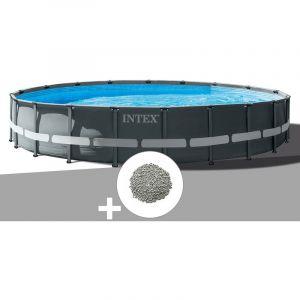Intex Kit piscine tubulaire Ultra XTR Frame ronde 7,32 x 1,32 m + 30 kg de zéolite