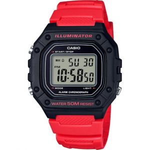 Casio Montre Sport W-218H-4BVEF - Homme - Rouge - 5 bars