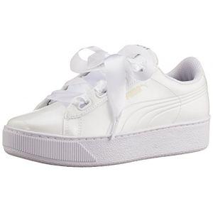 Puma Vikky Platform Ribbon P, Baskets Basses Femme, Blanc White, 37 EU