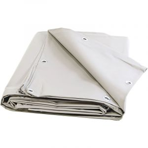Bâches Direct Bache Bois 680 g/m² - 3 x 5 m - Bache PVC Blanche - bache exterieur - bâches étanches - bache plastique