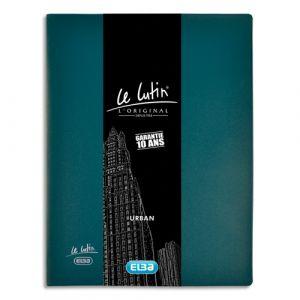 Elba Protège documents lutin Urban - en PVC - 40 pochettes fixes - A4 - en PVC 5/100 - bleu pétrole