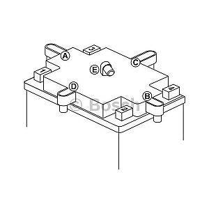 Bosch M4F34 Batterie Moto 12V 14Ah 140A - Batterie moto 12V M4F34 - 14Ah - 140A - Pôle Y8