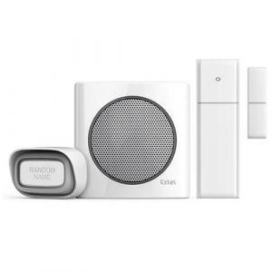 Extel Sonnette sans fil diBi Flash + détecteur d'ouverture de porte dibi Contact+ = diBi Contact