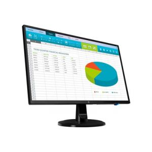 "HP N246v - Écran LED - 23.8"" (23.8"" visualisable) - 1920 x 1080 Full HD (1080p) - IPS - 250 cd/m² - 1000:1 - 5 ms - HDMI, DVI, VGA - noir"