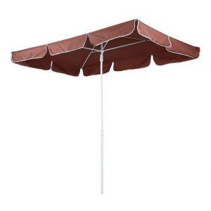 Parasol de jardin rectangle 1,8 x 1,2 m abri meuble jardin marron