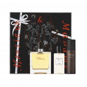 Hermès Terre d'Hermès - Coffret eau de parfum, lotion après-rasage et mousse à raser
