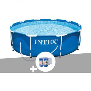 Intex Kit piscine tubulaire Metal Frame ronde 3,05 x 0,76 m + 6 cartouches de filtration