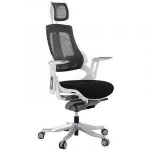 Kokoon Design Fauteuil de bureau ergonomique noir SALYUT