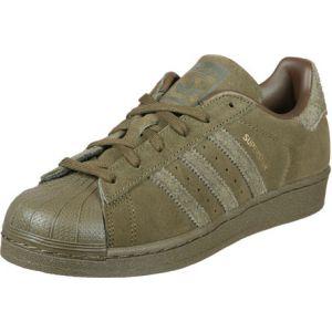 Adidas Superstar J, Chaussures de Fitness Mixte Enfant, Vert (Olitra/Olitra / Olitra 000), 36 2/3 EU