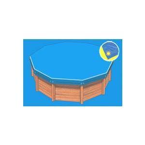 Bâche hiver Eco bleue compatible piscine Ness diam 4.60m