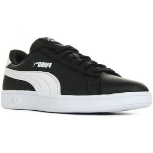 Puma Smash V2 L Jr, Sneakers Basses Mixte Enfant, Noir Black White, 36 EU