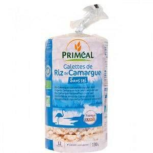 Priméal Galettes de riz de Camargue sans sel 130 g