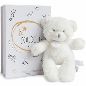 Doudou et Compagnie Peluche pantin ours blanc Le Doudou (20 cm)