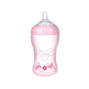 Suavinex Nuby Natural Nurser Flacon tétine silicone rose 3 positions 300ml