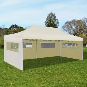 VidaXL Tente de réception pliable crème 3 x 6 m - Tonnelle pour jardin