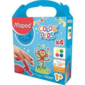 Maped Color'Peps Peinture au doigt 4 pots x 80 g