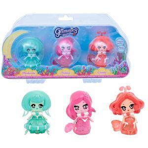 Giochi Preziosi 3 figurines Glimmies Aquaria