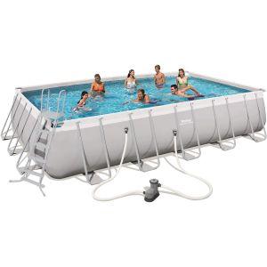 Bestway Kit piscine rectangulaire Power Steel Frame Pool 671x366x132cm